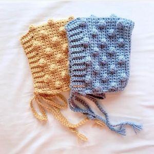 Other - crochet baby bonnet popcorn style